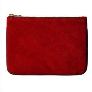 Balmain x H&M leather suede pouch clutch